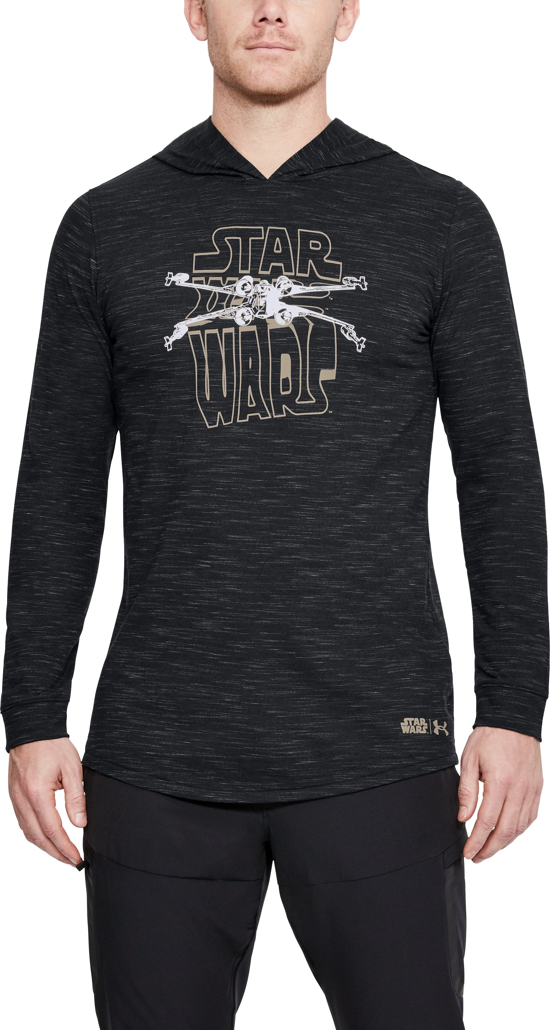 Men's UA Star Wars Warp Hoodie, Black ,