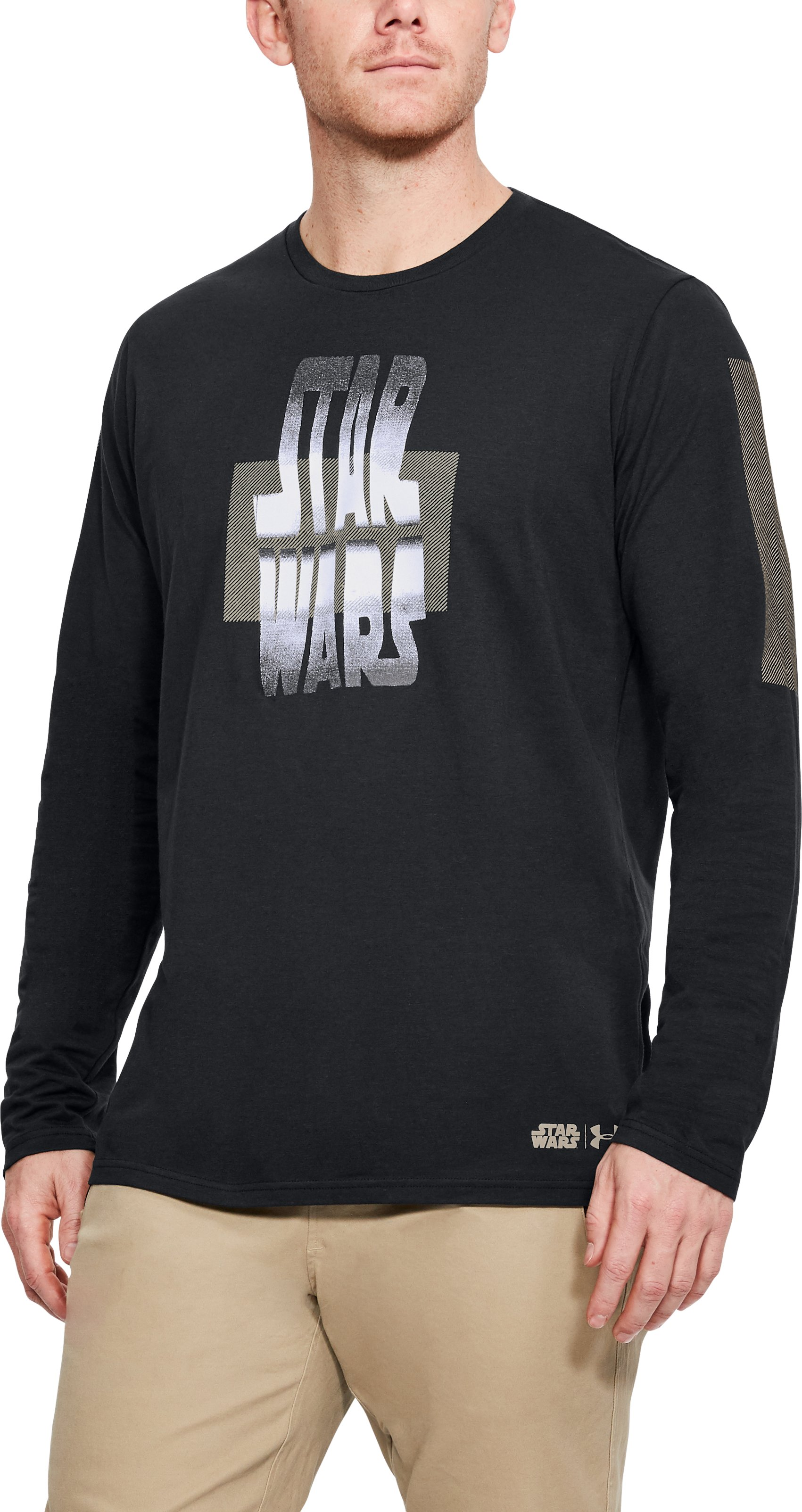 Men's UA Star Wars Warp Long Sleeve, Black ,