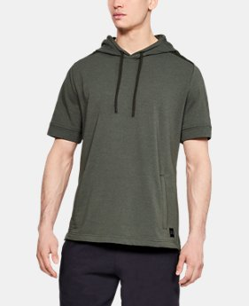 Men's UA Microthread Terry Short Sleeve Hoodie  1  Color Available $55