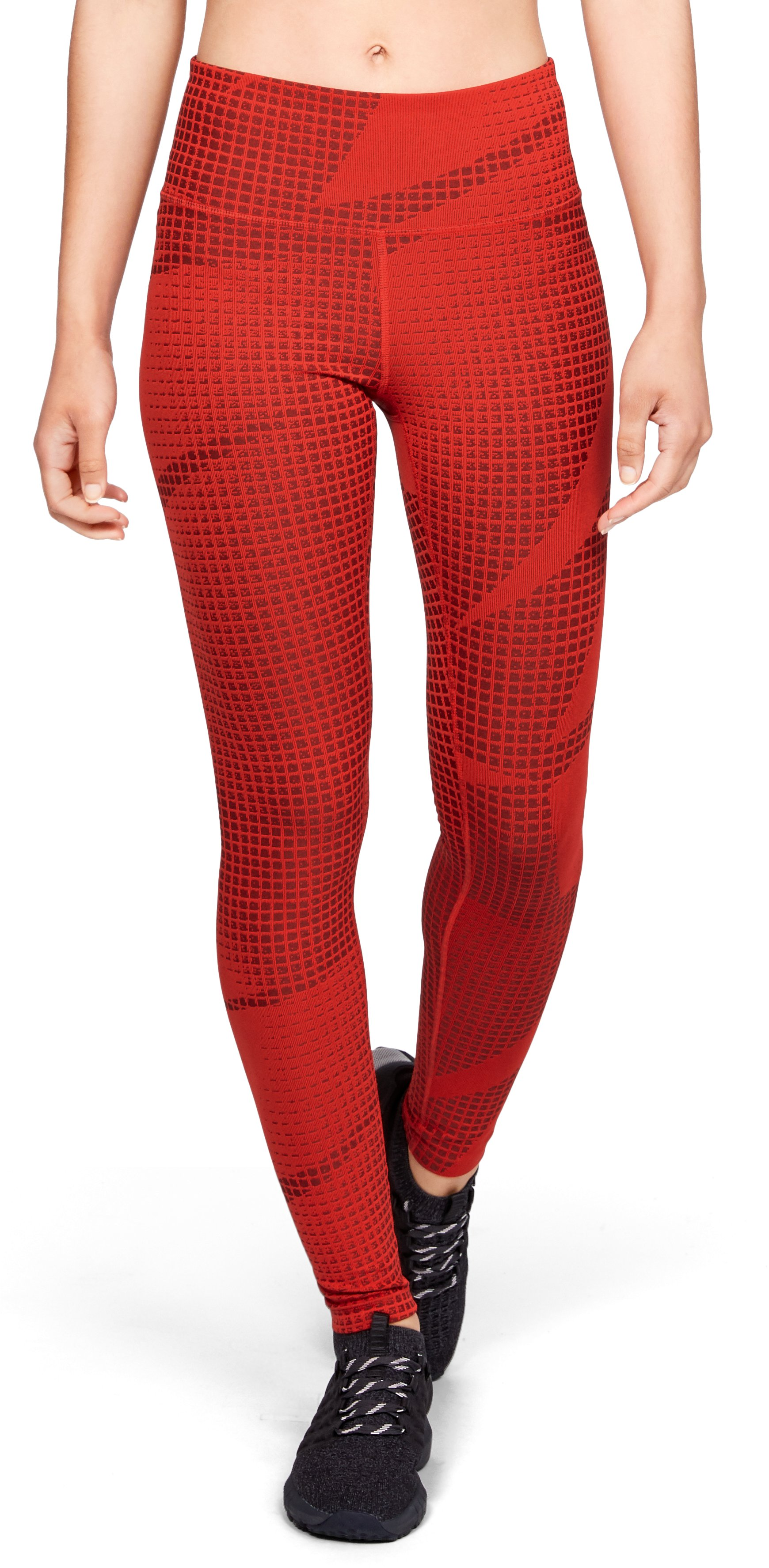 Women's UA Breathelux Jacquard Legging, RADIO RED,