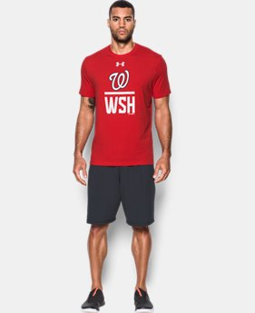 New to Outlet Men's Washington Nationals Lockup T-Shirt  1 Color $24.99