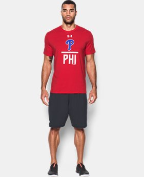 New to Outlet Men's Philadelphia Phillies Lockup T-Shirt  1 Color $24.99