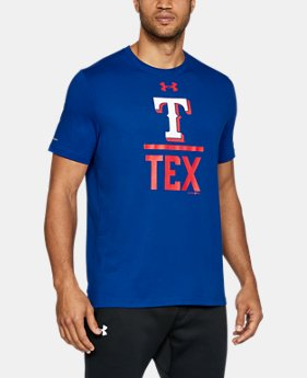 Men's Texas Rangers Lockup T-Shirt  1 Color $24.49