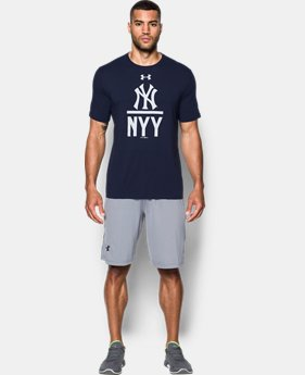 New to Outlet Men's New York Yankee Lockup T-Shirt  1 Color $24.99