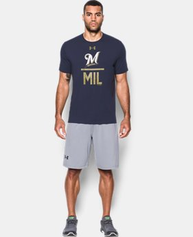 Men's Milwaukee Brewers Lockup T-Shirt  1 Color $26.99