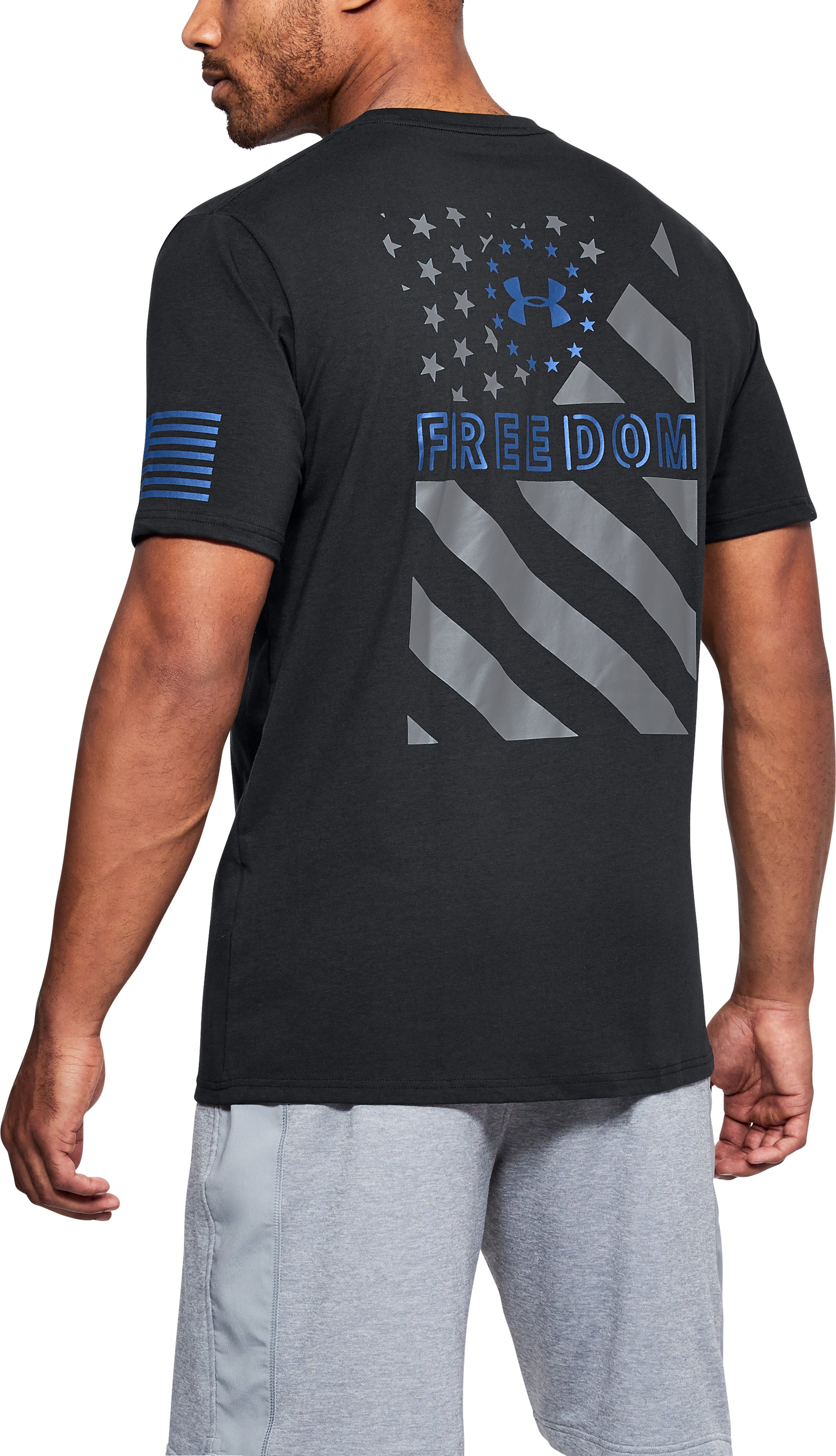Men's UA Freedom Express Flag T-Shirt 4 Colors $25.00