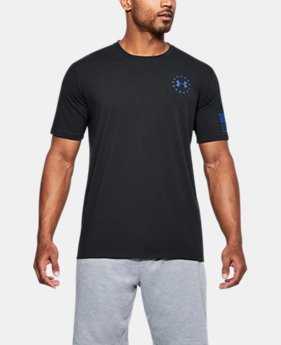 Men's UA Freedom Express Flag T-Shirt  1 Color $25