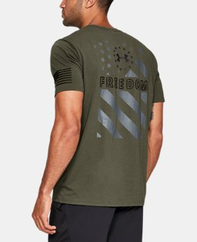 Men's UA Freedom Express Flag T-Shirt  1  Color Available $25
