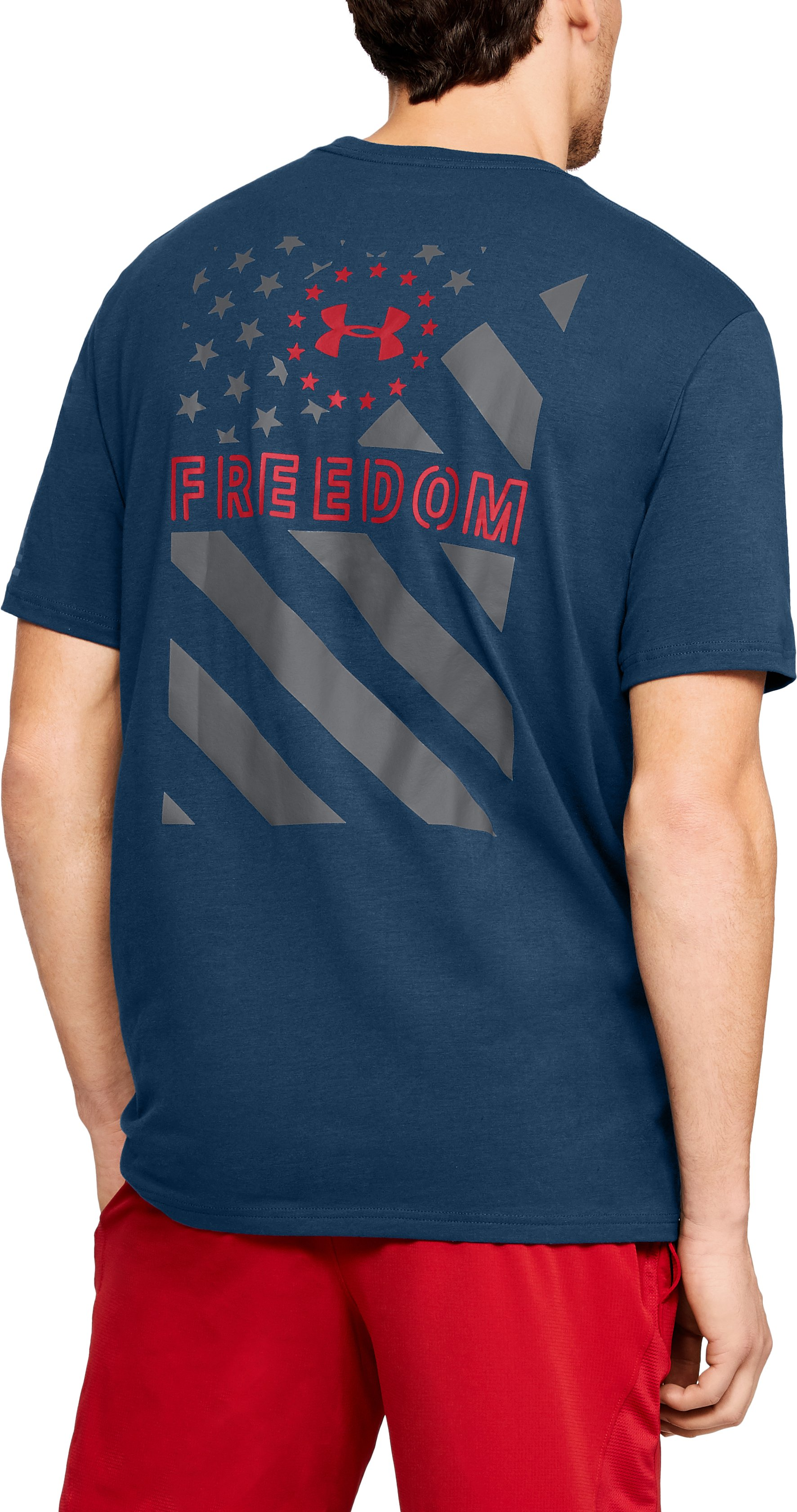 Men's UA Freedom Express Flag T-Shirt, BLACKOUT NAVY