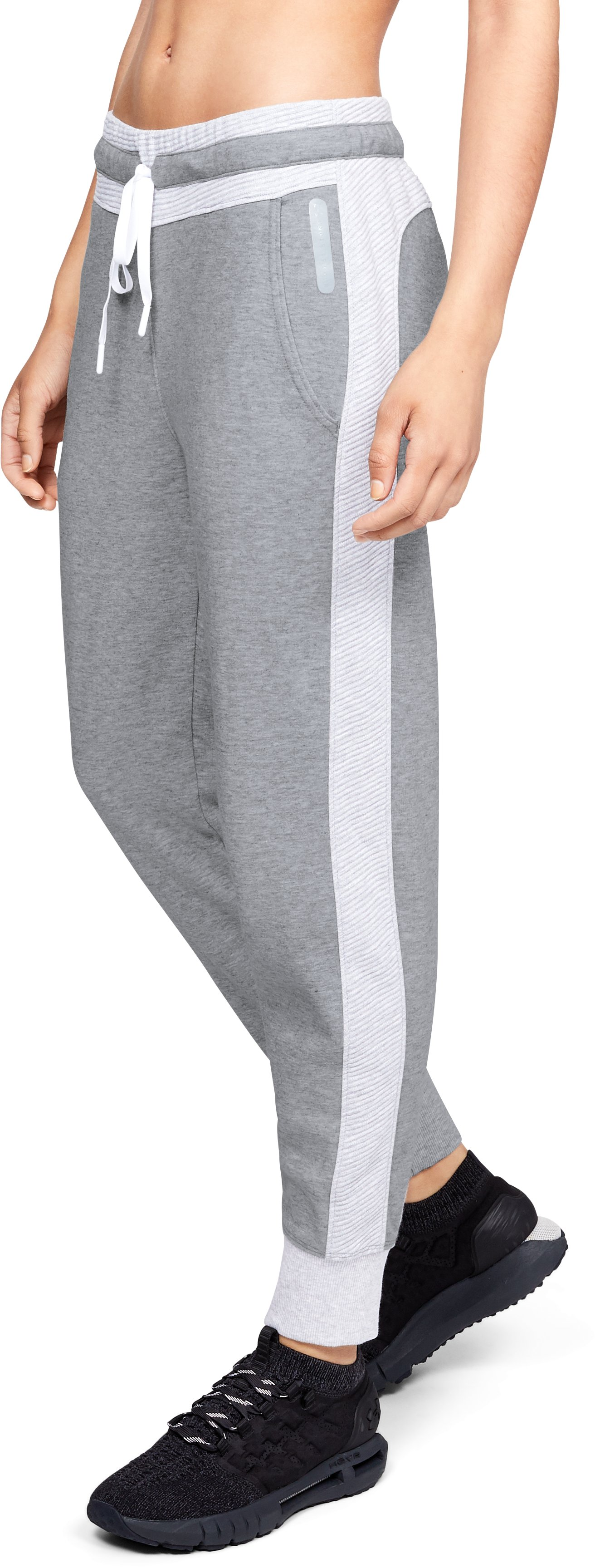 Women's UA Unstoppable Double Knit Pants, STEEL MEDIUM HEATHER