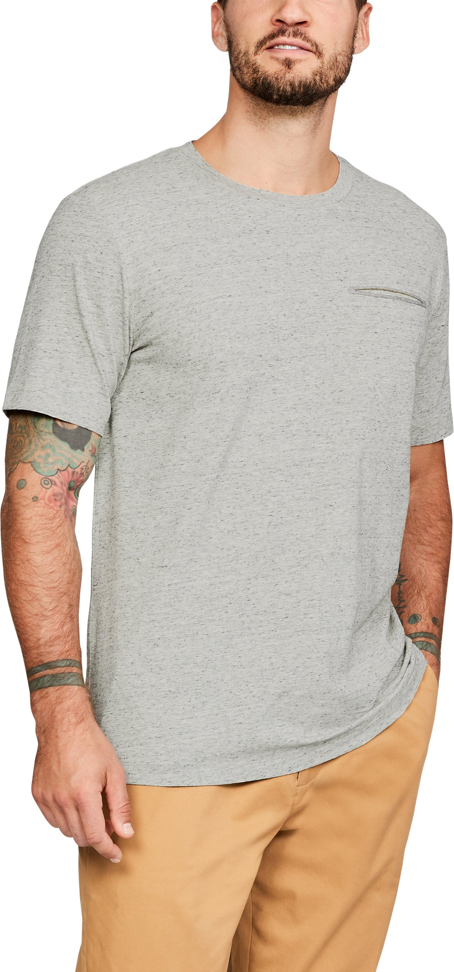 UASW Prime Crew Tee, UAS Speckled Heather Grey, zoomed