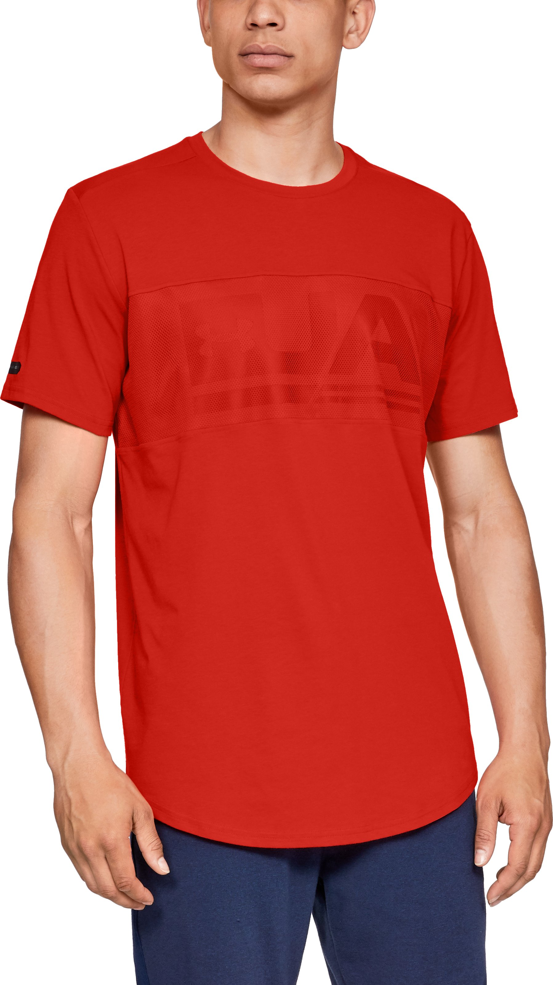 Men's UA Graphic Mesh T-Shirt, Radio Red