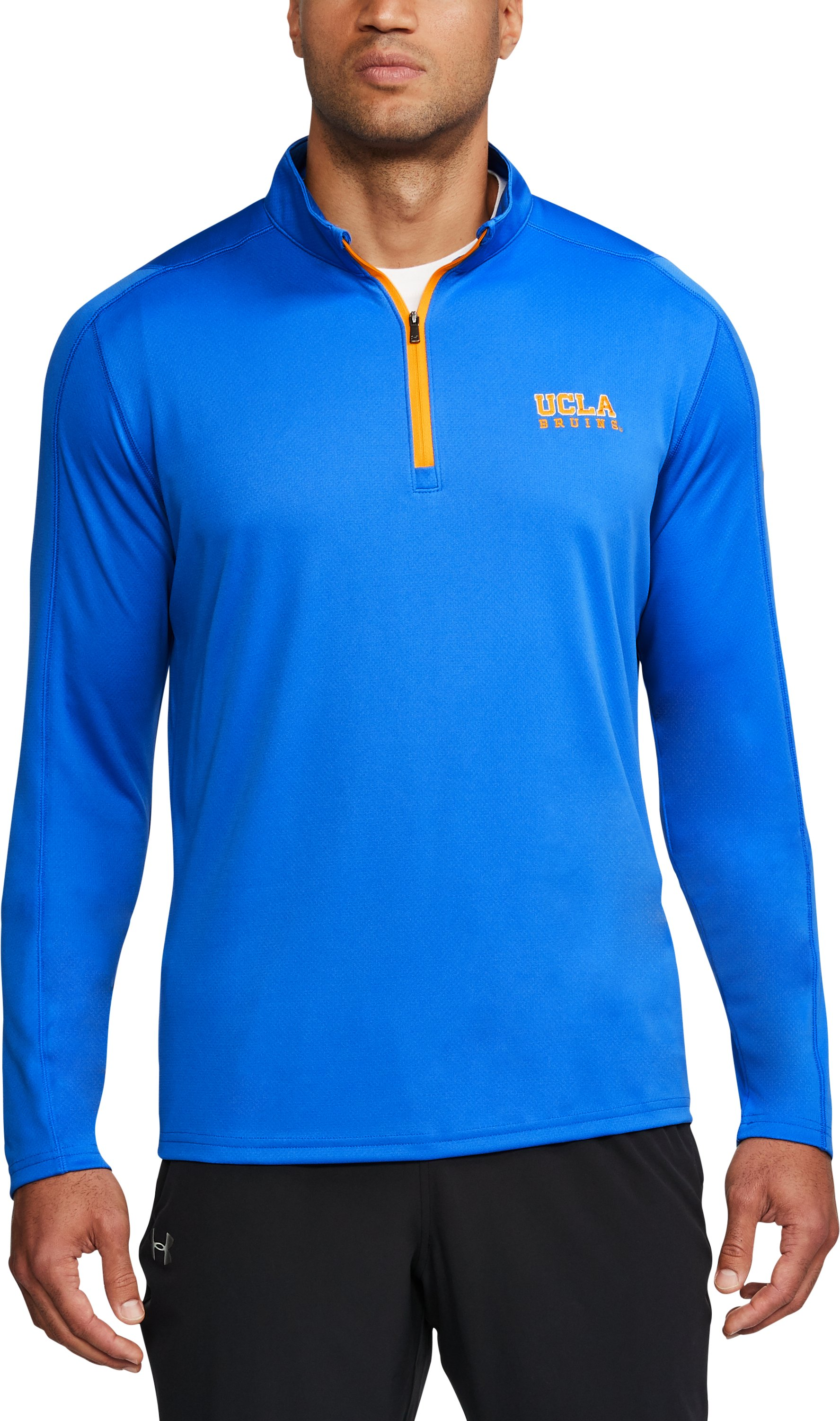 Men's UCLA ¼ Zip, POWDERKEG BLUE