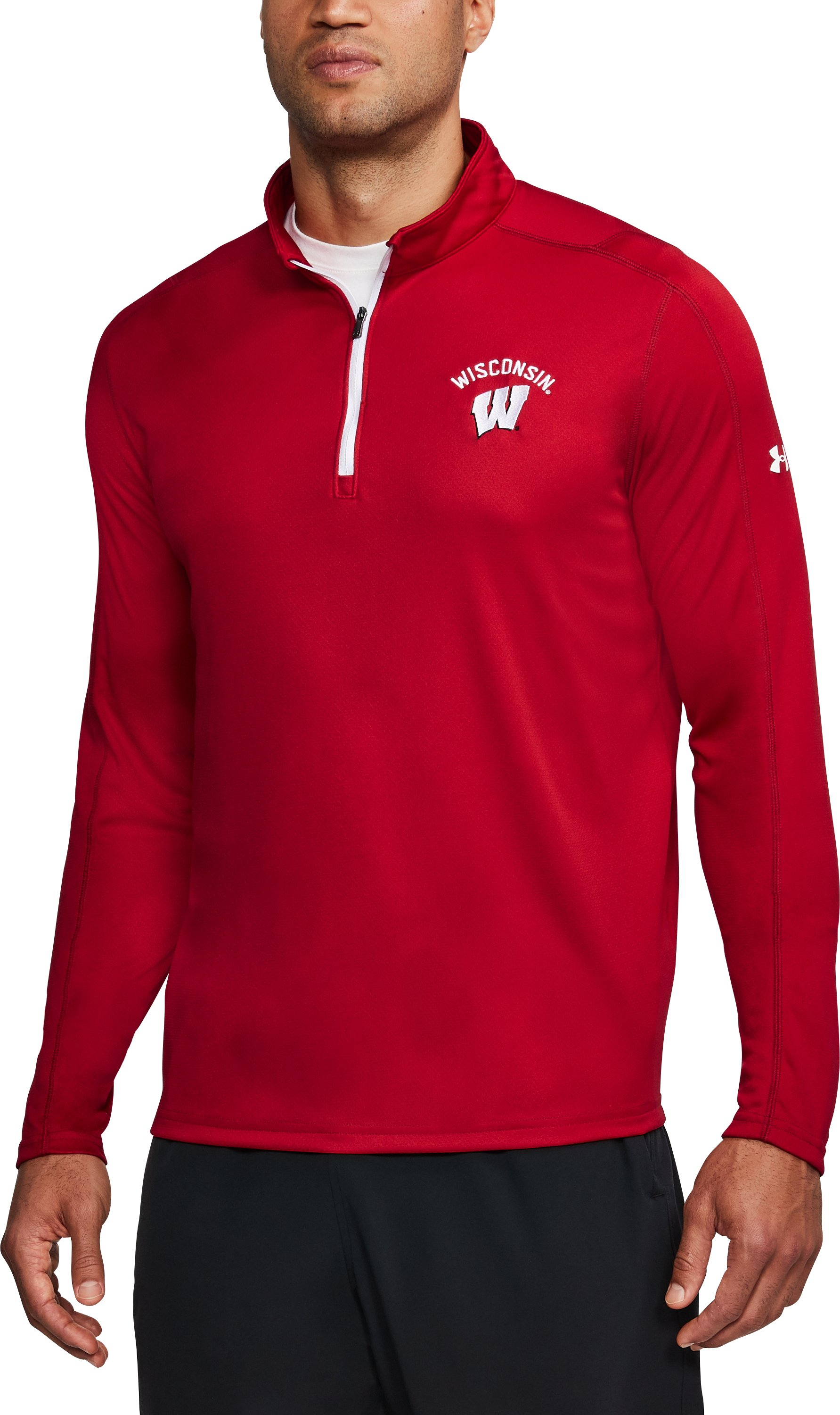 Men's Wisconsin ¼ Zip, Flawless, undefined