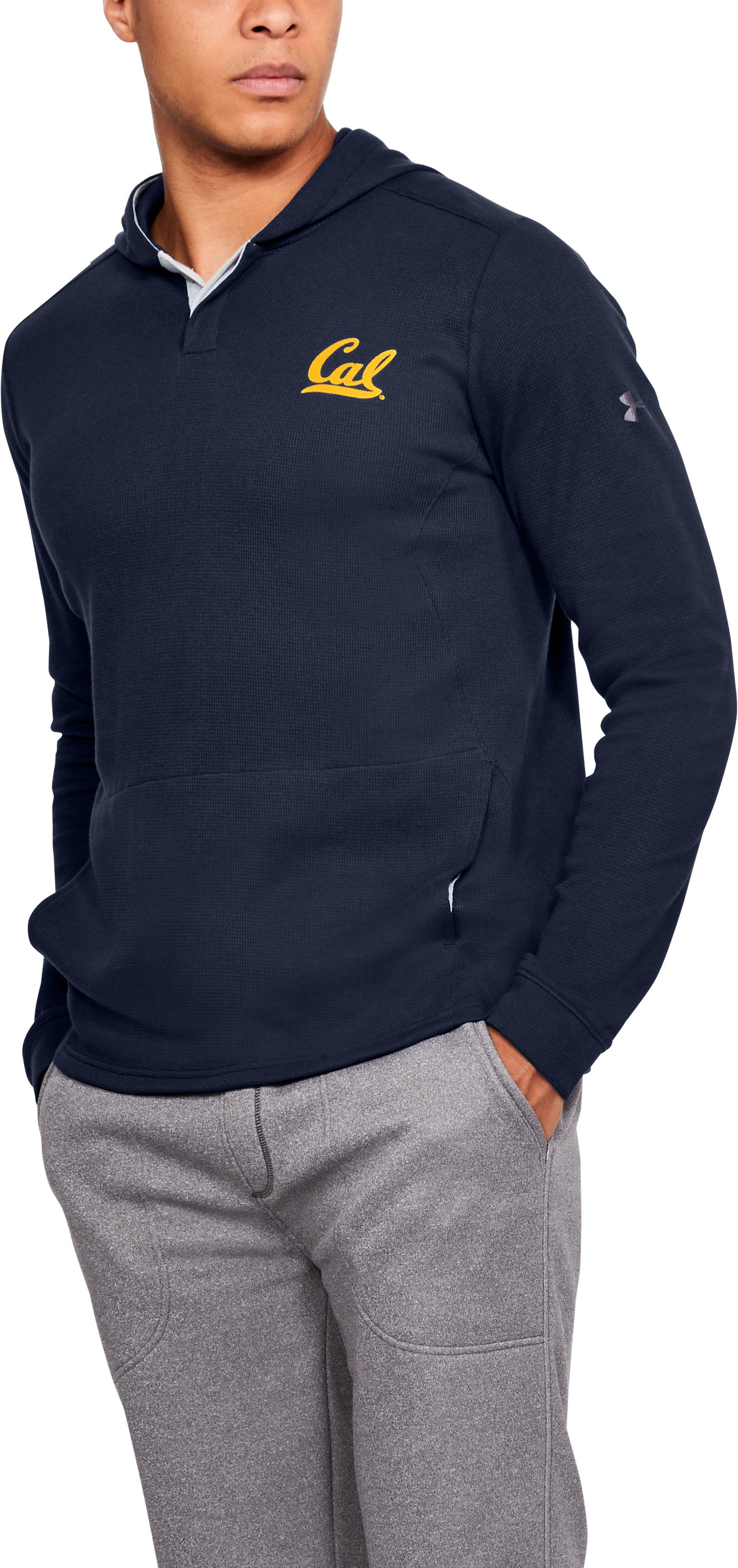 Men's California Waffle Hoodie, Midnight Navy,