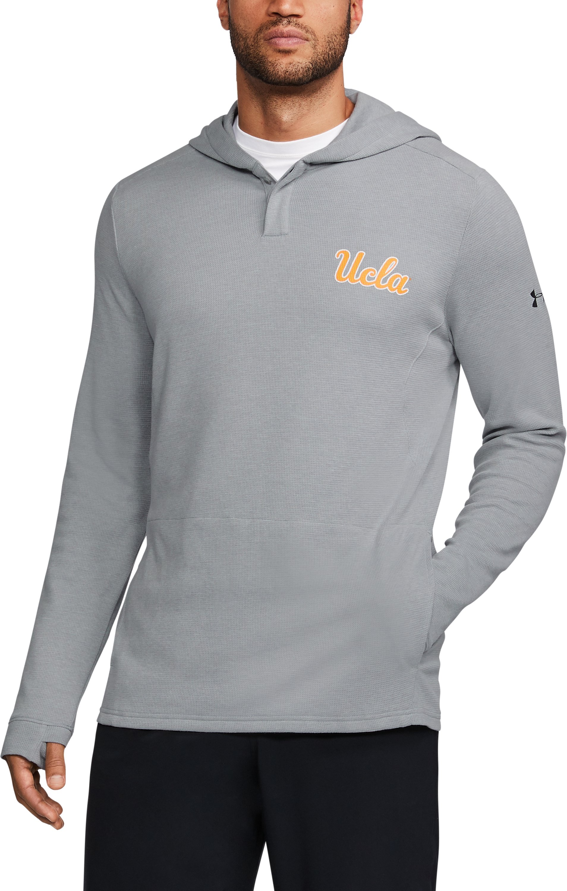 Men's UCLA Waffle Hoodie, True Gray Heather, undefined