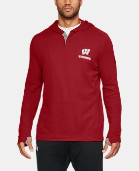 New Arrival Men's Wisconsin UA Waffle Hoodie  1 Color $64.99