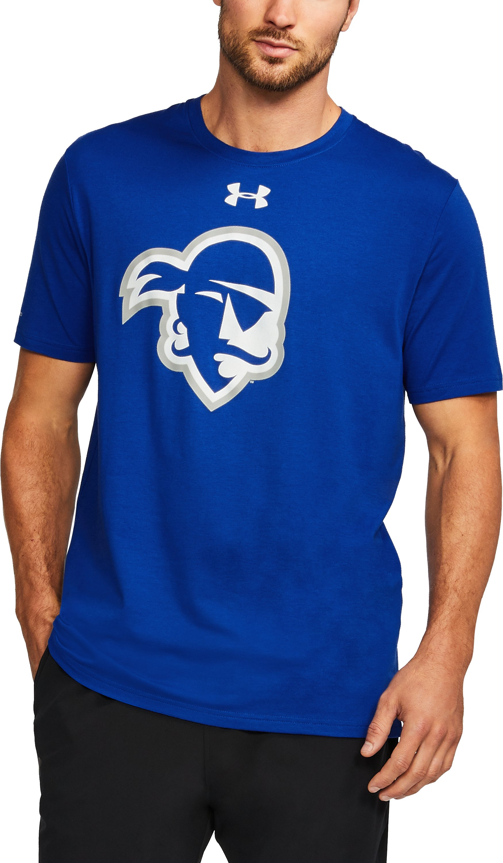 Men's Seton Hall Charged Cotton® T-Shirt, Royal, undefined