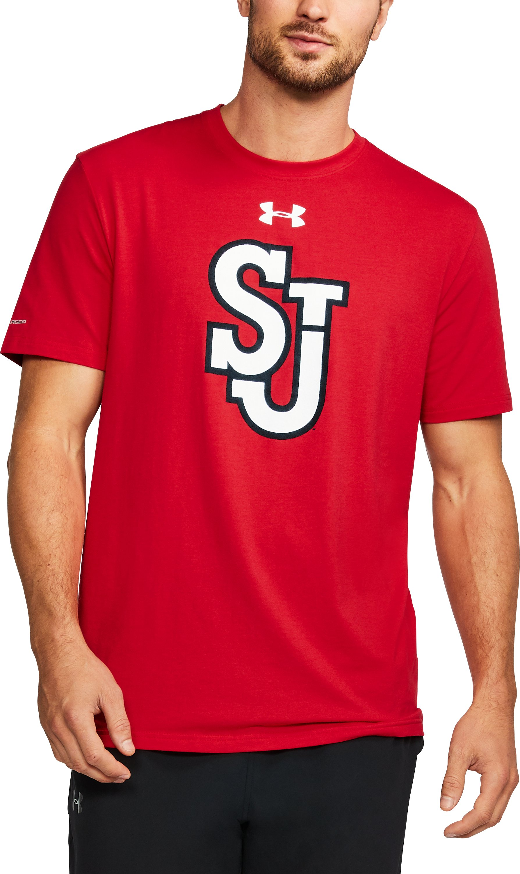 Men's St. John's Charged Cotton® T-Shirt, Red,