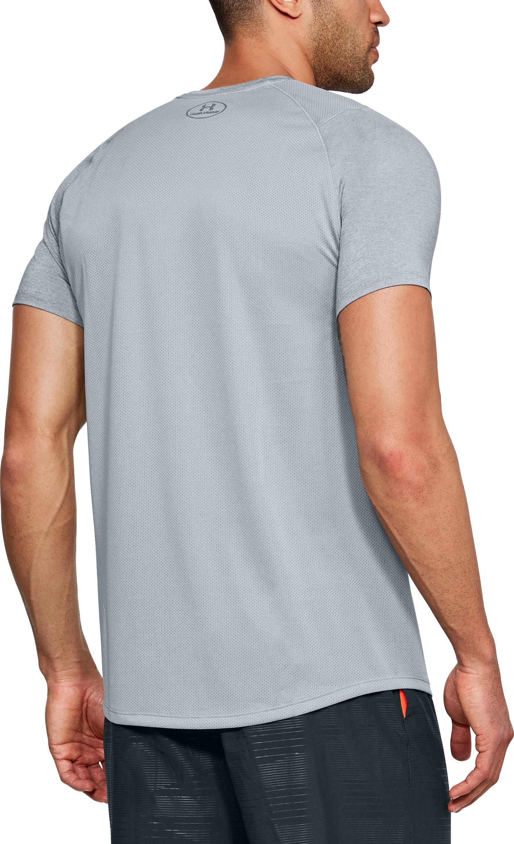 Men's UA MK-1 Short Sleeve, STEEL LIGHT HEATHER, undefined