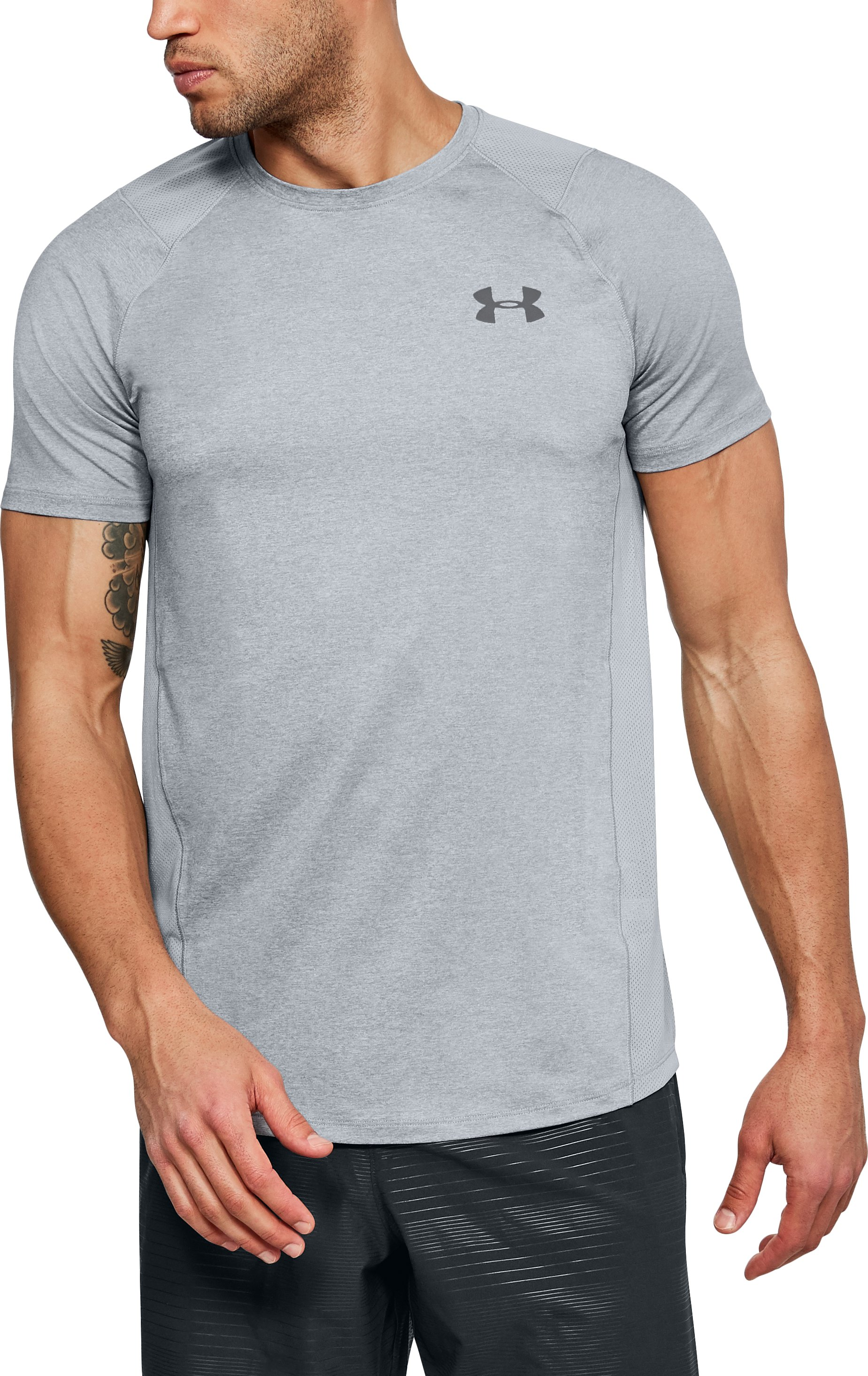 Men's UA MK-1 Short Sleeve, STEEL LIGHT HEATHER