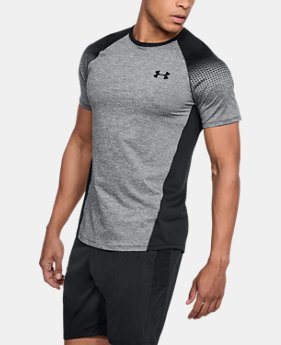 New Arrival  Men's UA MK-1 Dash Printed Left Chest Short Sleeve  1 Color $40