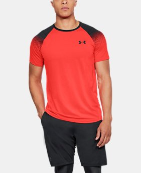 New Arrival Men's UA MK-1 Dash Printed Left Chest Short Sleeve  1 Color $35