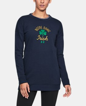 New Arrival Women's Notre Dame Longline Crew  1 Color $69.99