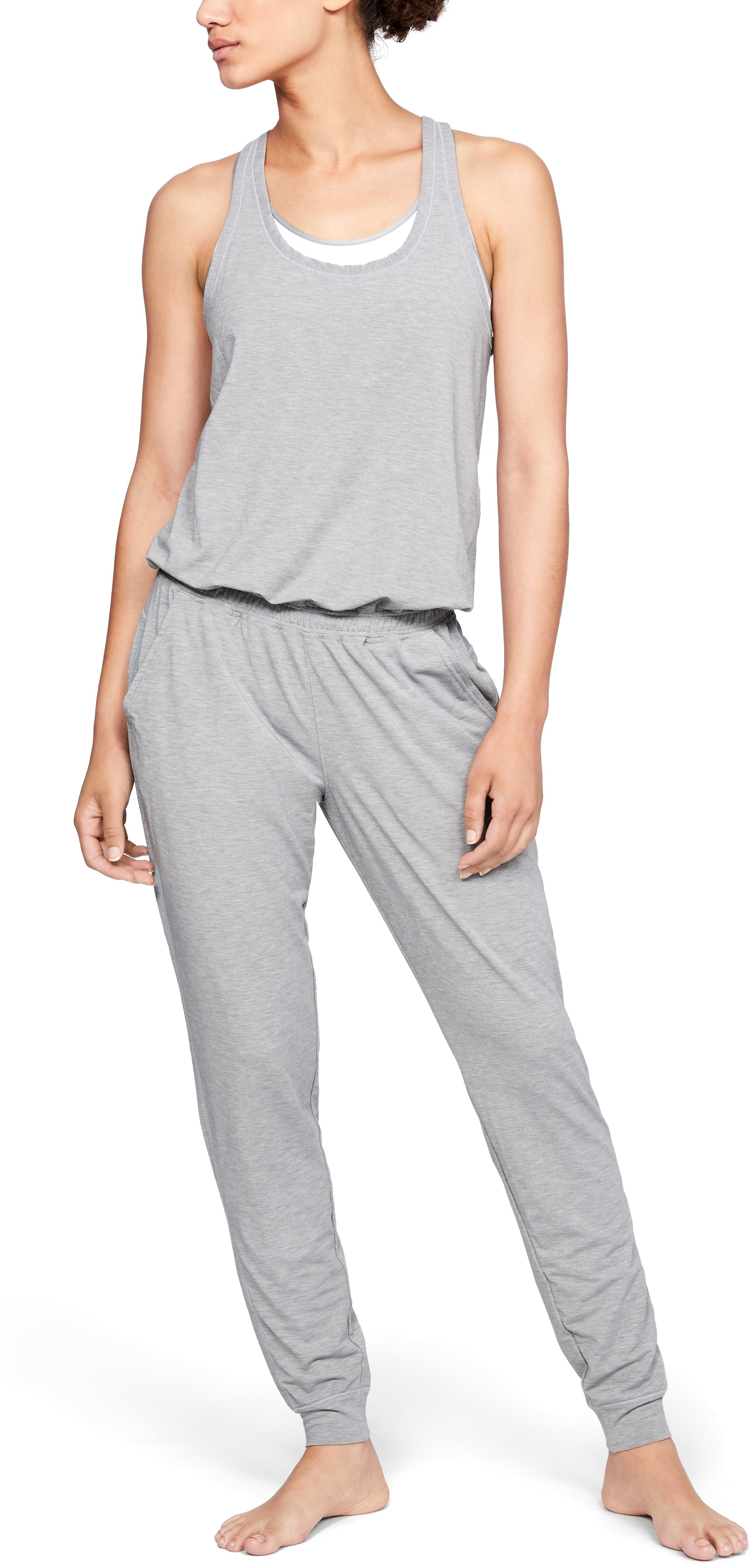 Women's Athlete Recovery Sleepwear™ Romper, STEEL FADE HEATHER,