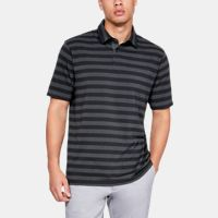 UA Charged Cotton Scramble Stripe Mens Golf Polo Shirt w/Belt & Cap Deals