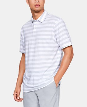 New Arrival Men's UA Charged Cotton® Scramble Stripe Polo  1  Color Available $50