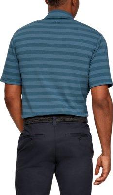 Blue-New OVP Under Armour Mens Polo Shirt-CC Scramble Stripe Size SM