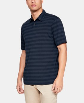 New Arrival Men's UA Charged Cotton® Scramble Stripe Polo  2  Colors Available $50