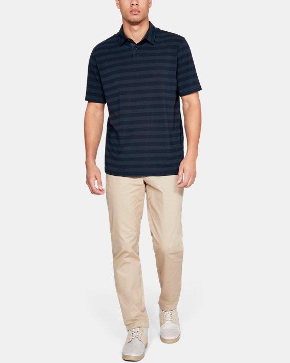 Men's UA Charged Cotton® Scramble Stripe Polo, Navy, pdpMainDesktop image number 1