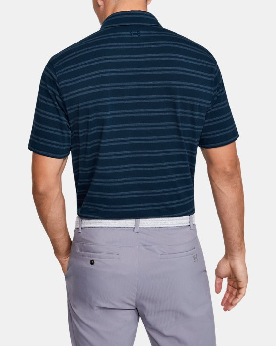 Men's UA Charged Cotton® Scramble Stripe Polo, Navy, pdpMainDesktop image number 2