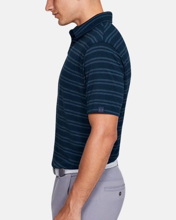 Men's UA Charged Cotton® Scramble Stripe Polo, Navy, pdpMainDesktop image number 3
