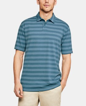 New Arrival Men's UA Charged Cotton® Scramble Stripe Polo FREE U.S. SHIPPING 5  Colors Available $50