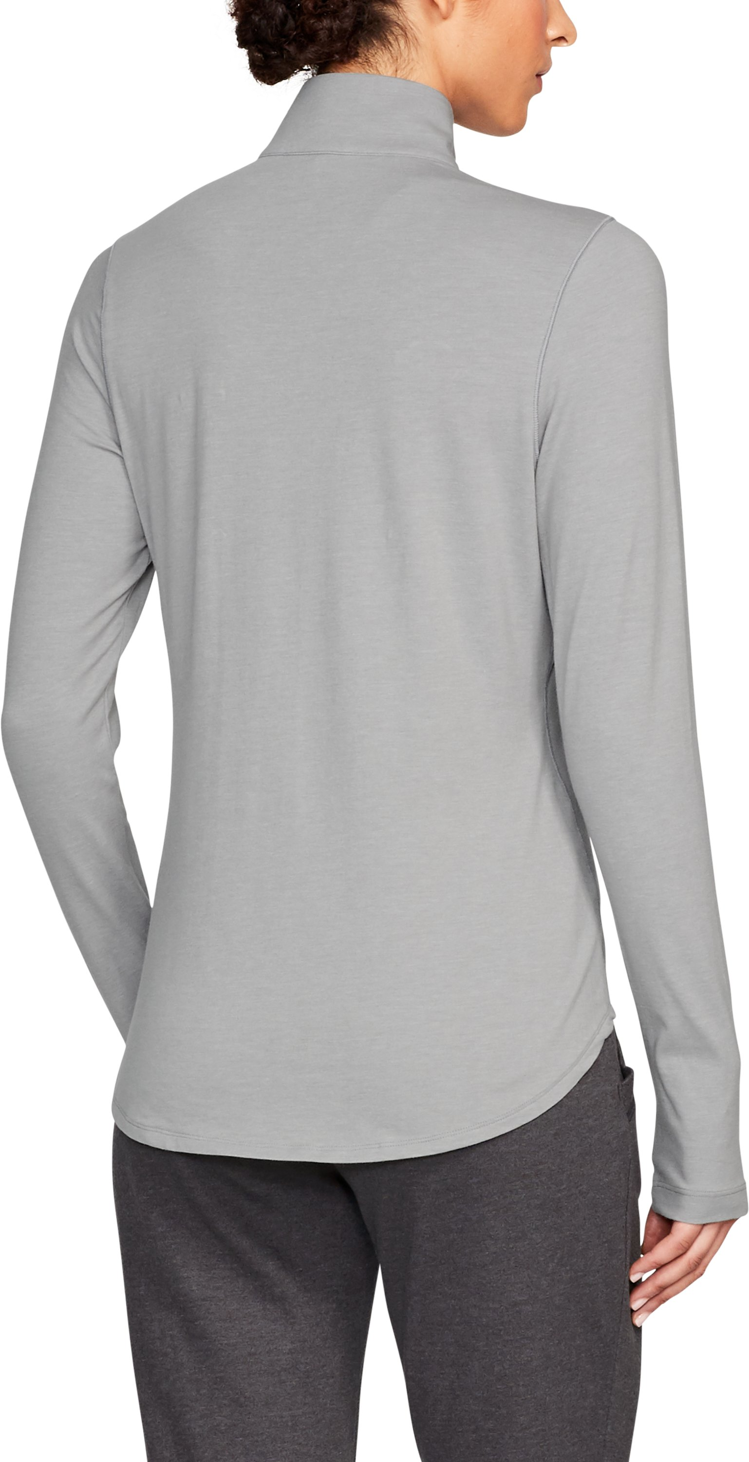 Women's UCLA Charged Cotton® ¼ Zip, True Gray Heather