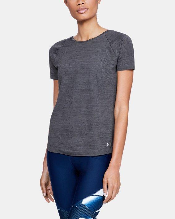 Women's UA Vanish Seamless  Spacedye Short Sleeve, Black, pdpMainDesktop image number 0