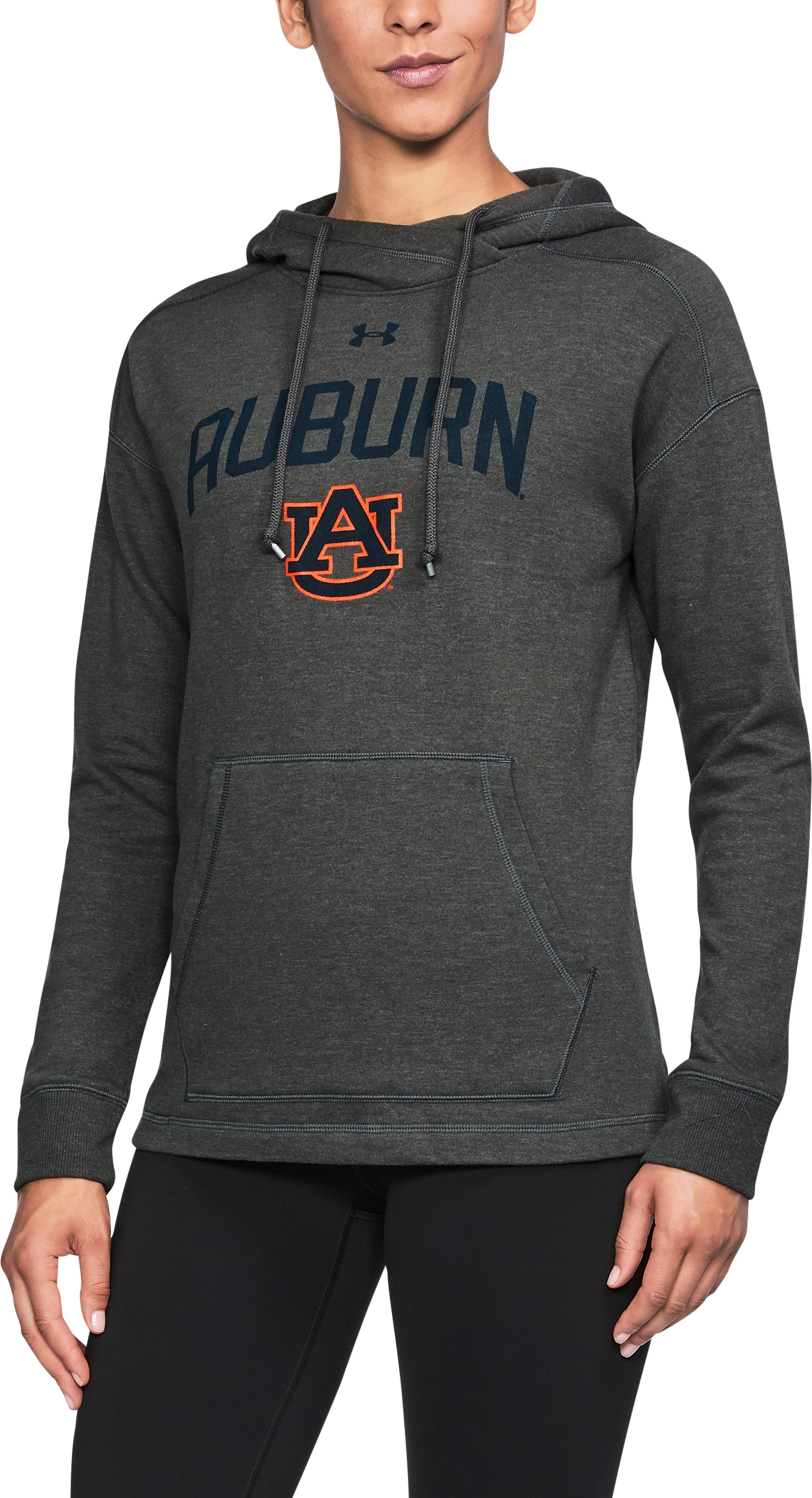 Women's Auburn UA Tri-Blend Hoodie, True Gray Heather,