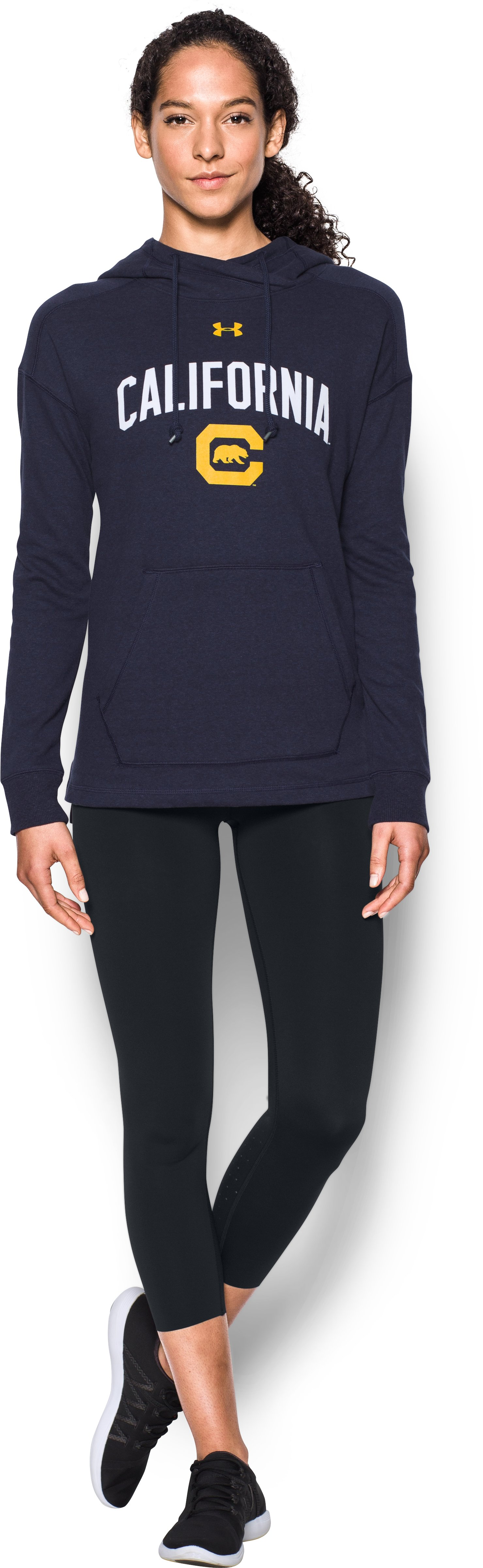 Women's UA Tri-Blend California Hoodie, Midnight Navy, Front