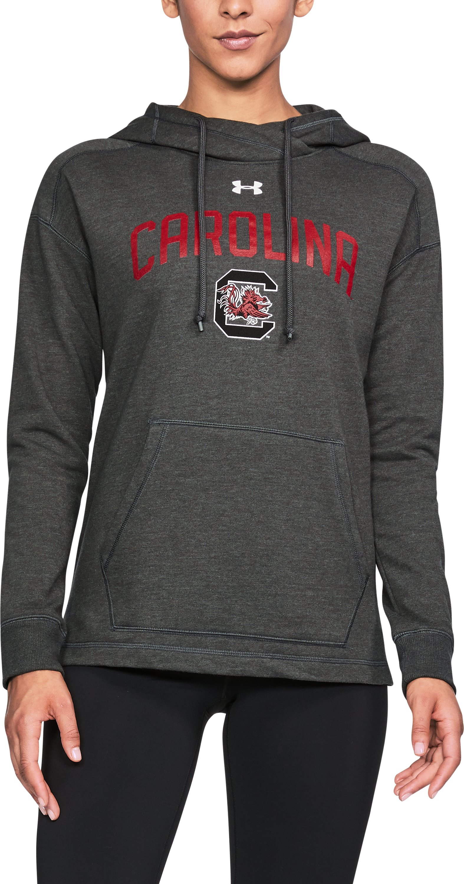 Women's South Carolina UA Tri-Blend Hoodie, True Gray Heather, undefined