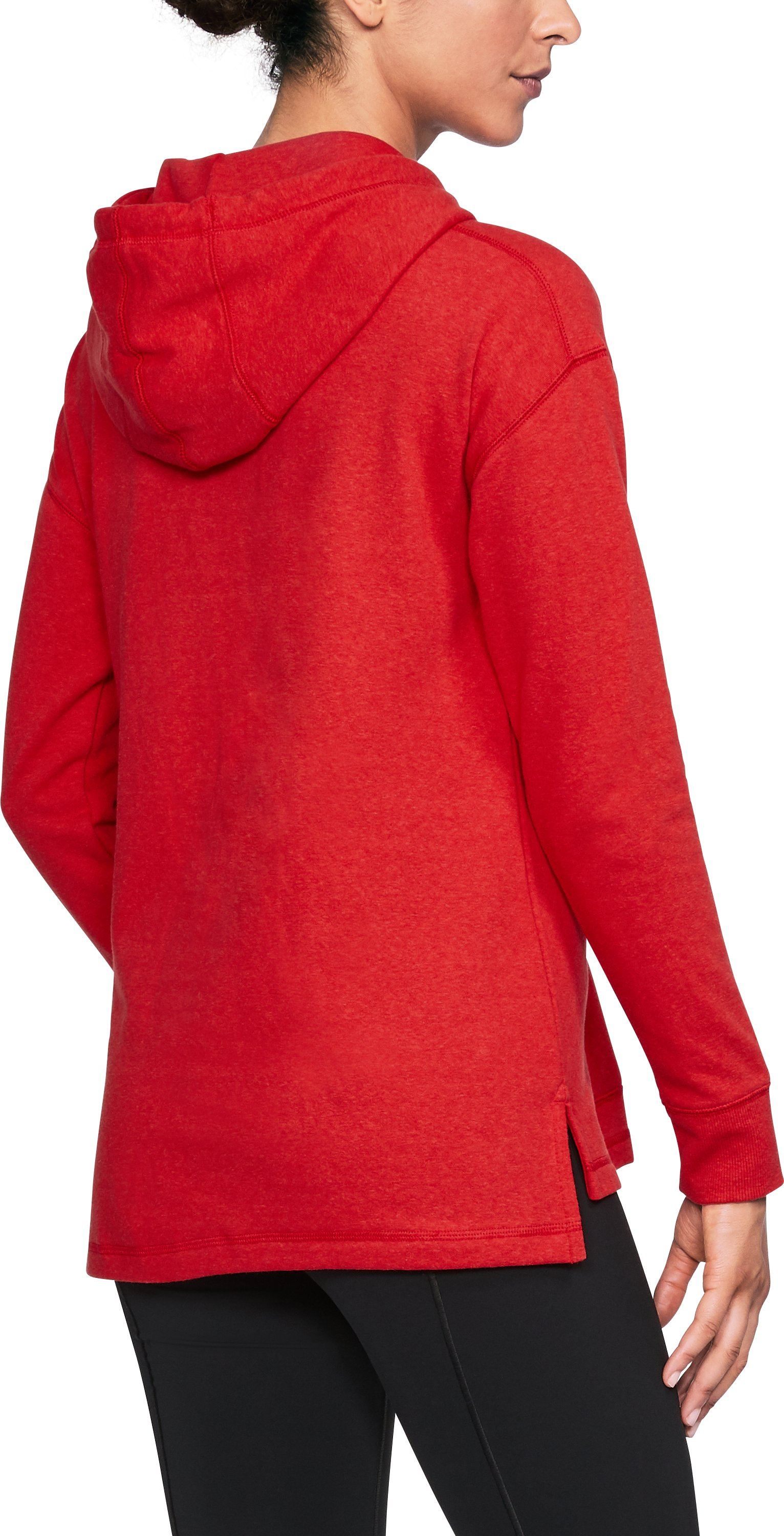 Women's St. John's UA Tri-Blend Hoodie, Red, undefined