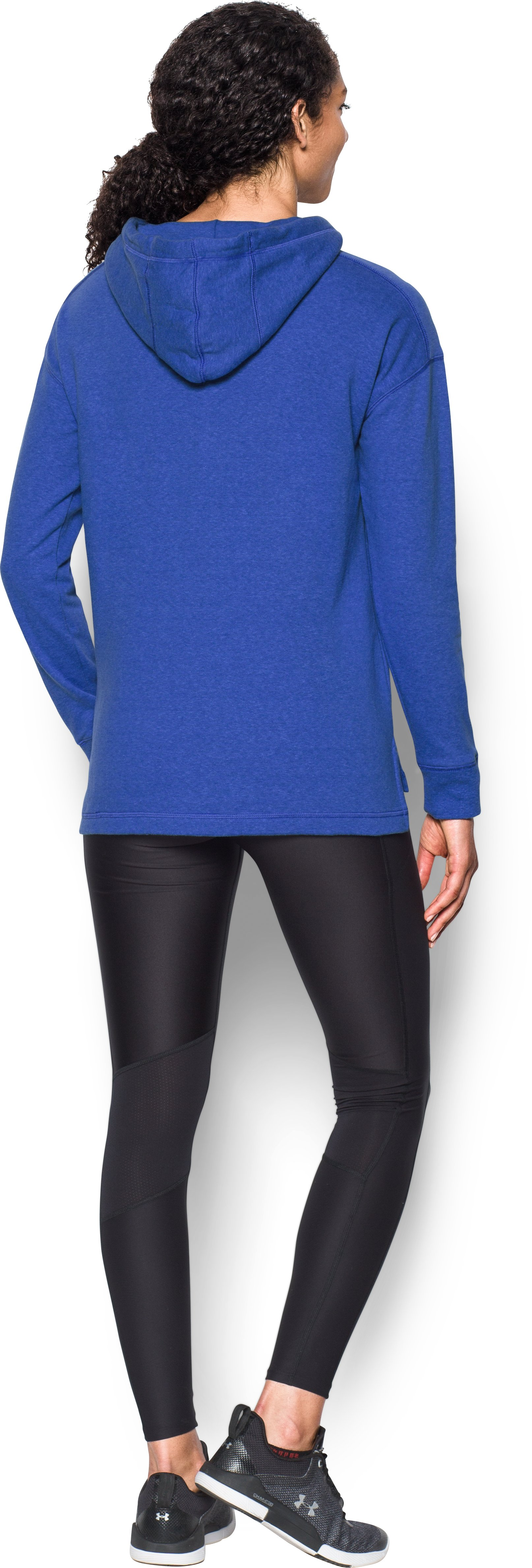 Women's UCLA UA Tri-Blend Hoodie, POWDERKEG BLUE, Back