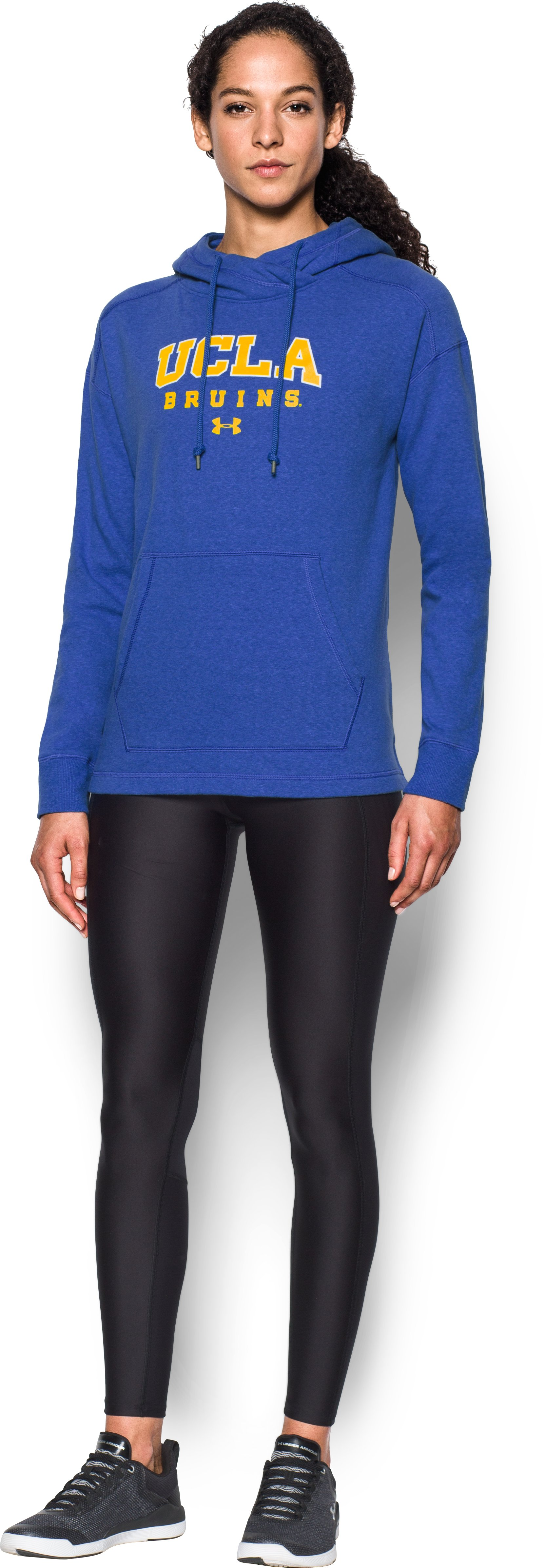 Women's UCLA UA Tri-Blend Hoodie, POWDERKEG BLUE, Front