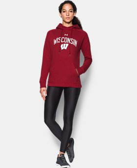 Women's Wisconsin UA Tri-Blend Hoodie  1 Color $74.99
