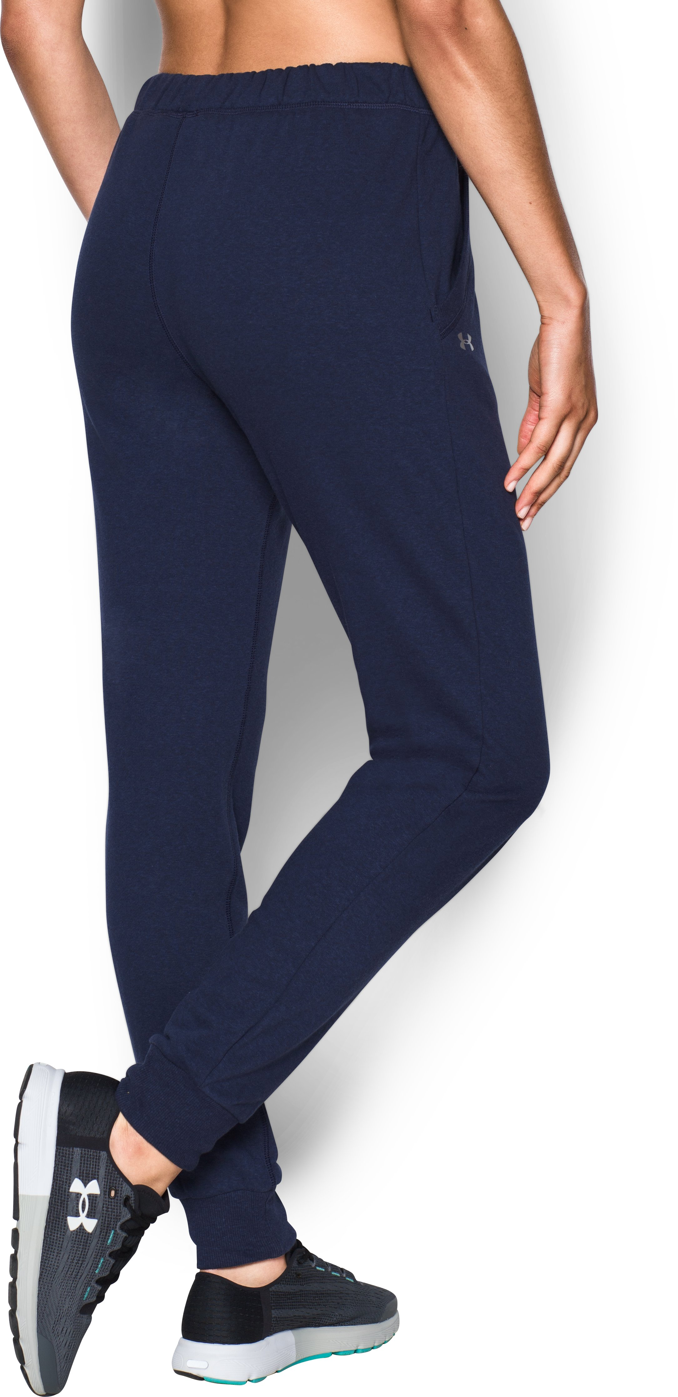 Women's UA Tri-Blend California Pants, Midnight Navy, undefined