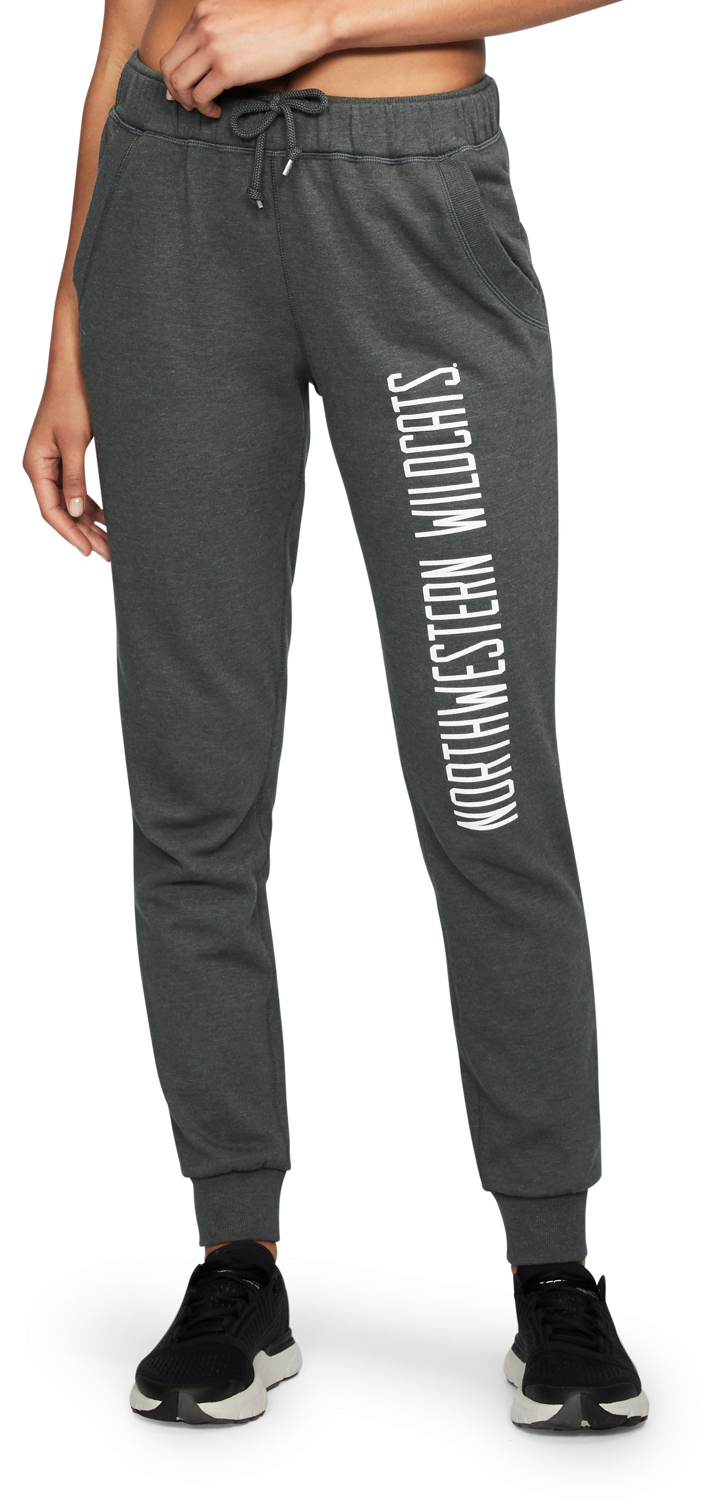 Women's Northwestern UA Tri-Blend Pants, True Gray Heather