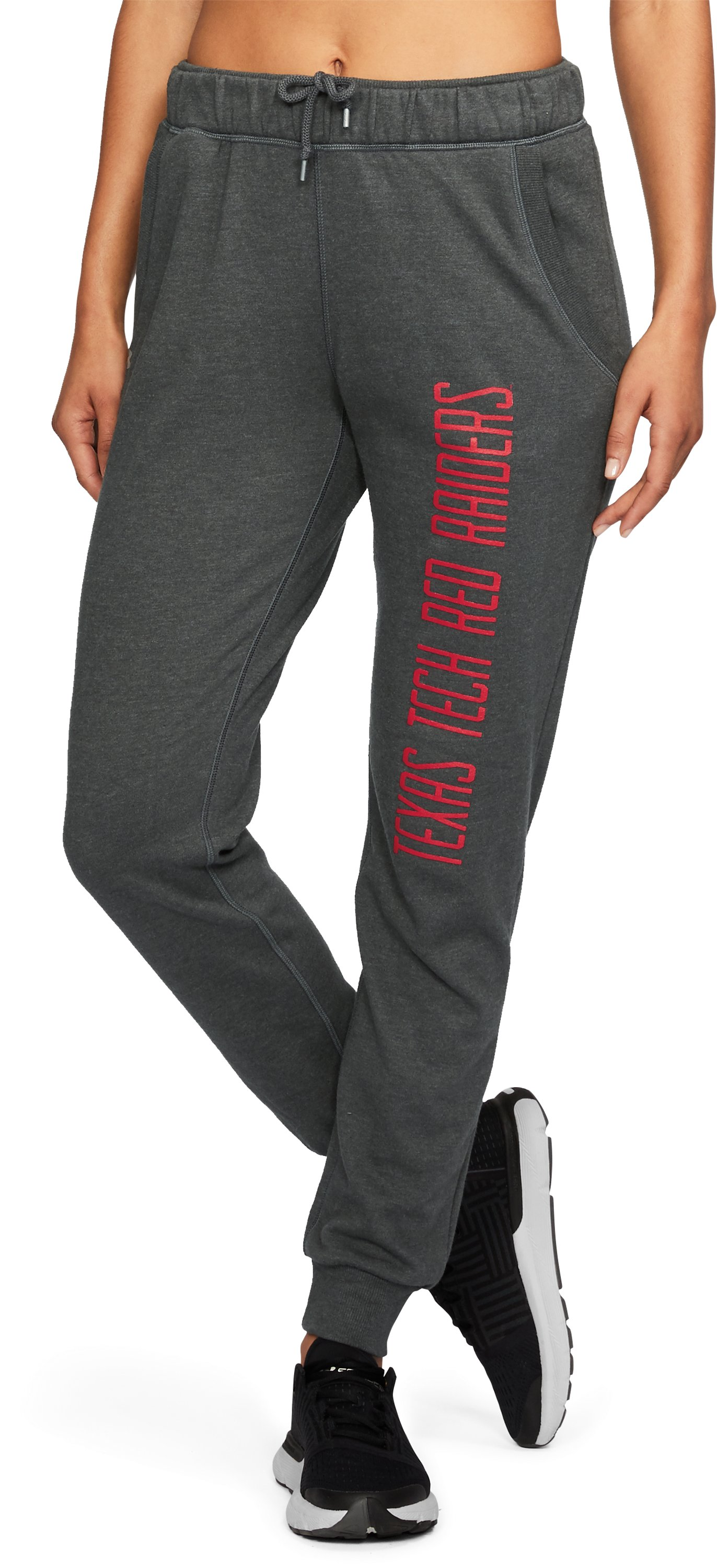 Women's Texas Tech UA Tri-Blend Pants, True Gray Heather