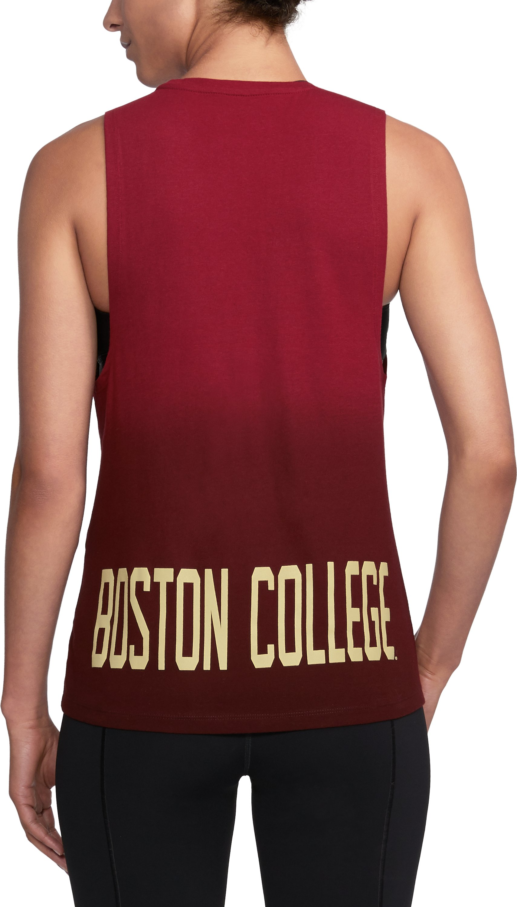 Women's Boston College UA Dip Dye Tank, Cardinal,